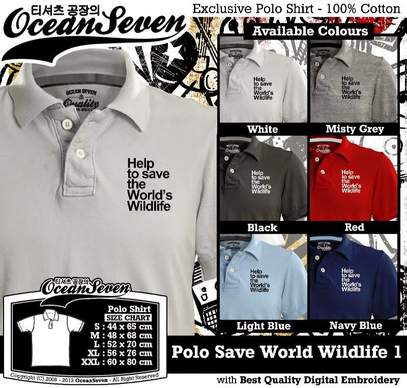 Kaos Polo Save World Wildlife 1