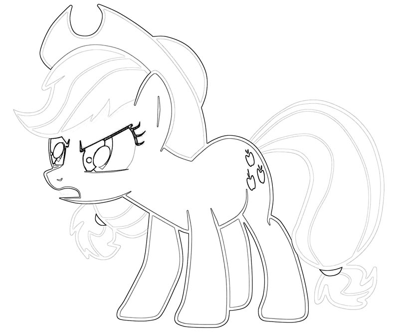 #30 My Little Pony Applejack Coloring Page