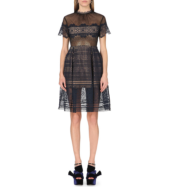 self portrait felicia dress, self portrait lace midi dress,
