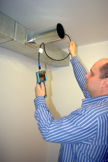 Inspection of HVAC duct with borescope