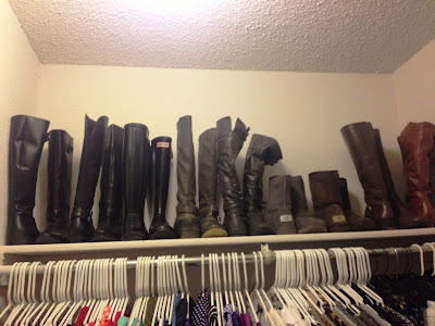 You Can See That All Of My Boots Are Standing Up Straight That S