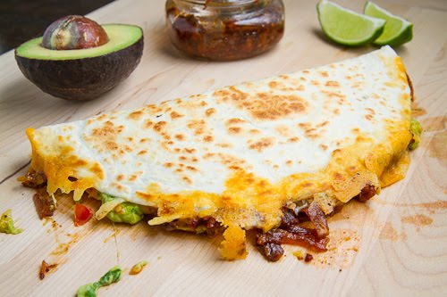 Breakfast Chorizo Quesadilla Topped With A Fried Egg Recipes ...