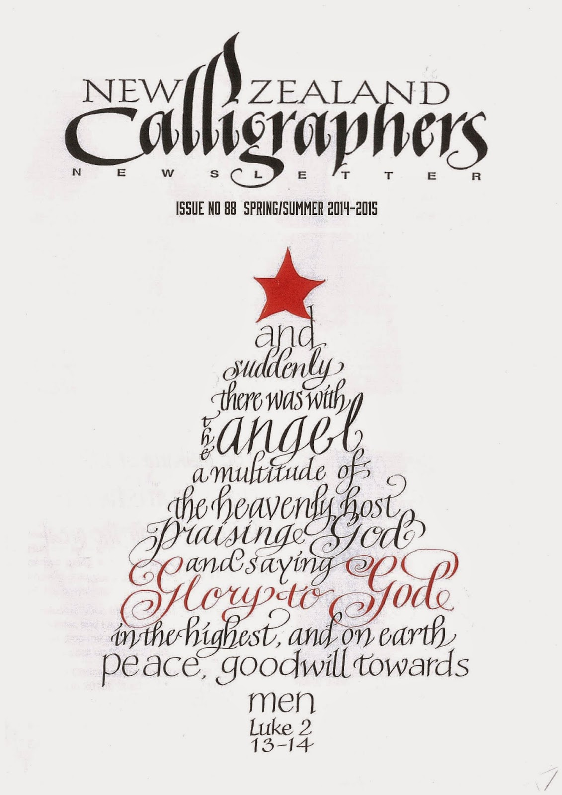 Calligraphy Southscribes Inc March 2015