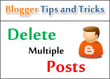 Delete Multiple Posts in Blogger at Once