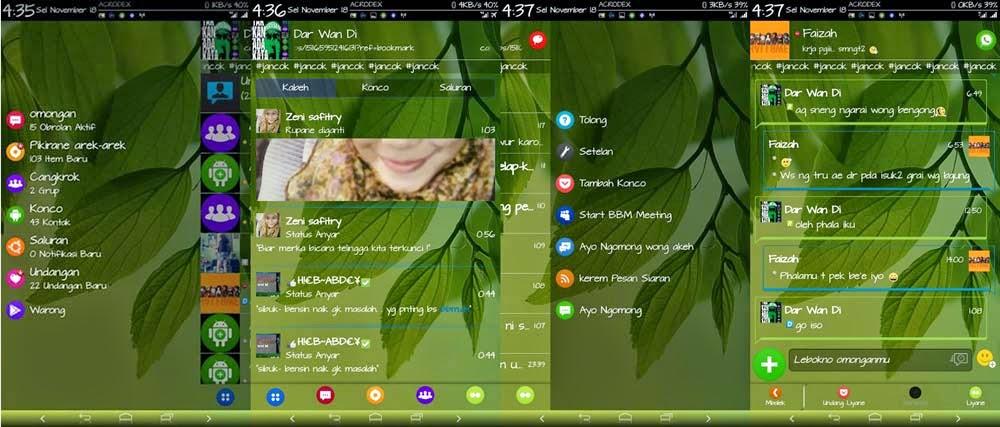 BBM Modifikasi versi Jowo Terbaru | Tampil Beda!