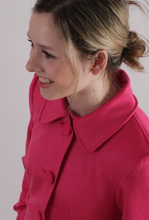 Julia Bobbin, Butterick 5145, hot pink coat, Jess from New Girl coat