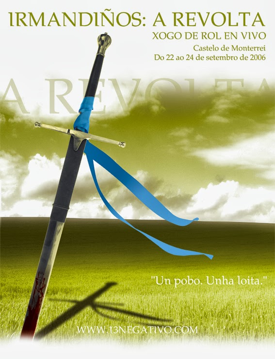 """Cartel de la primera edición del juego de rol en vivo """"Irmandiños: A Revolta"""" de 2006"""