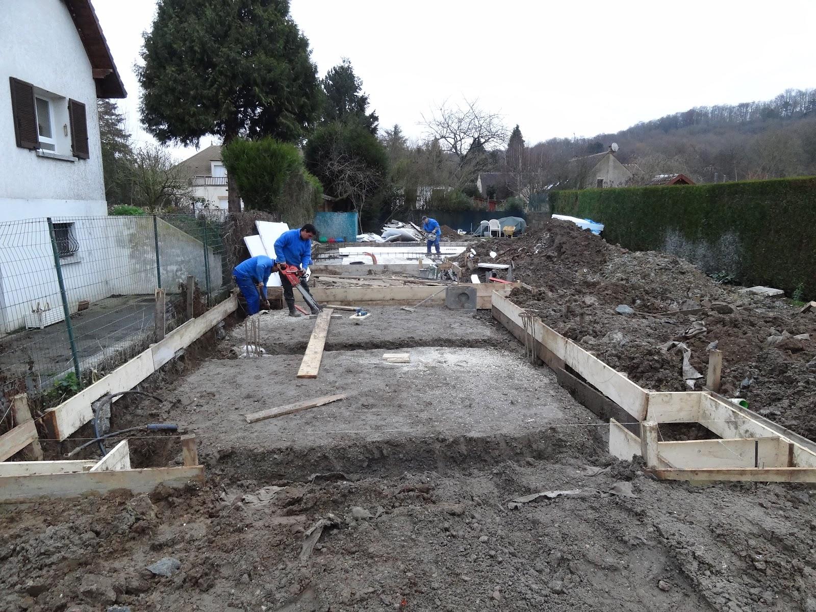 Construction maison ossature m tallique la dalle b ton - Dalle beton interieur maison ...