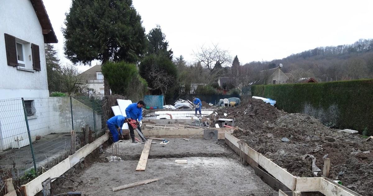 Construction maison ossature métallique: La dalle béton
