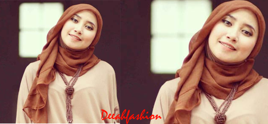 Jilbab Kasual Warna Natural Earthy