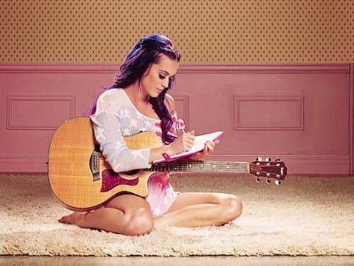 katy perry with guitar