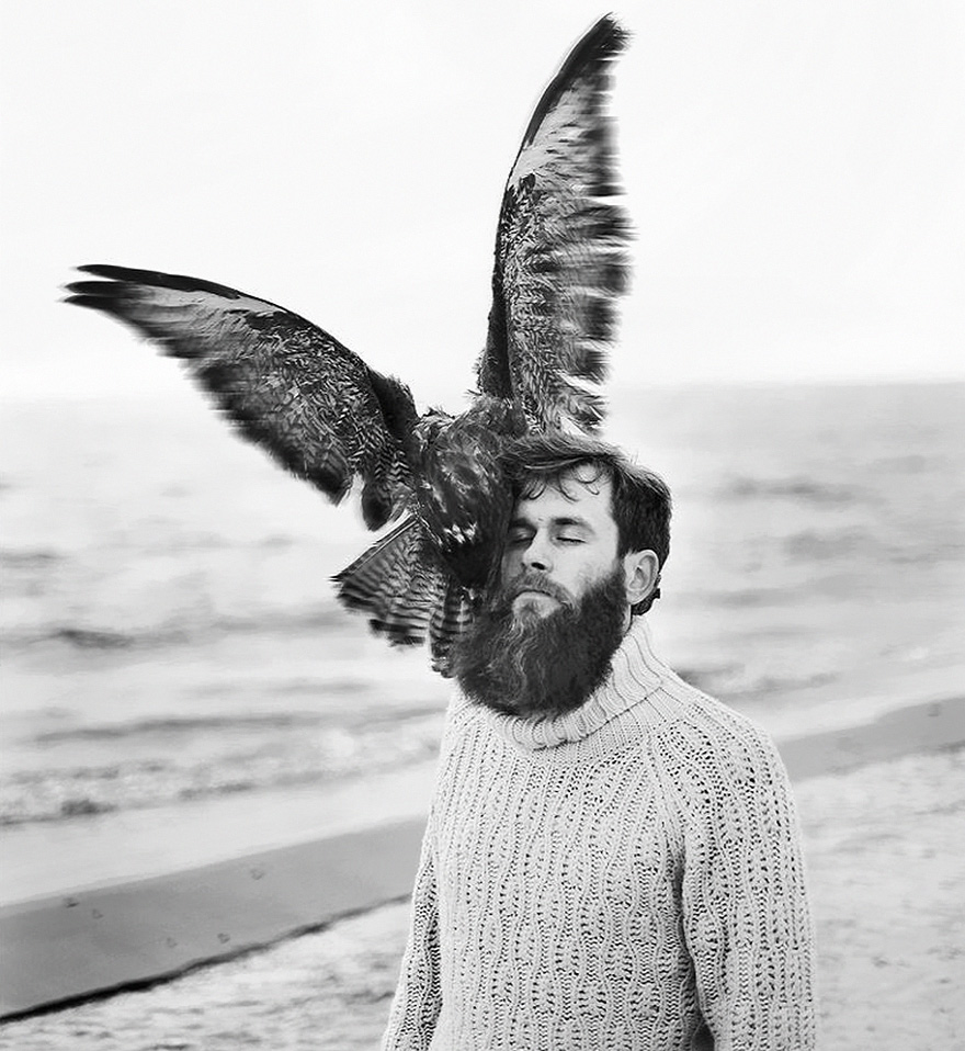 raggana-fotografia-sureale-gufo-barba