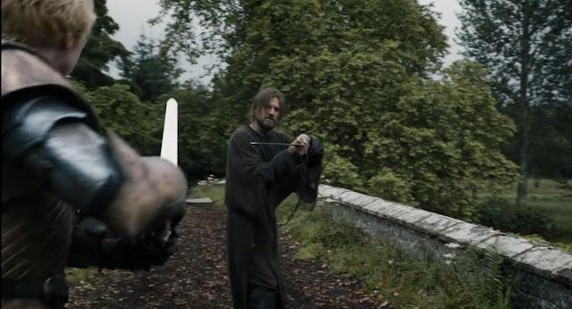 danza de espadas entre Jaime y briene - Juego de Tronos en los siete reinos