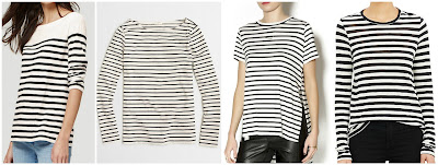 One of these striped tees is from Proenza Schoulder for $280 (WOW!!!) and the other three are under $50. Can you guess which one is the designer top? Click the links below to see if you are correct!