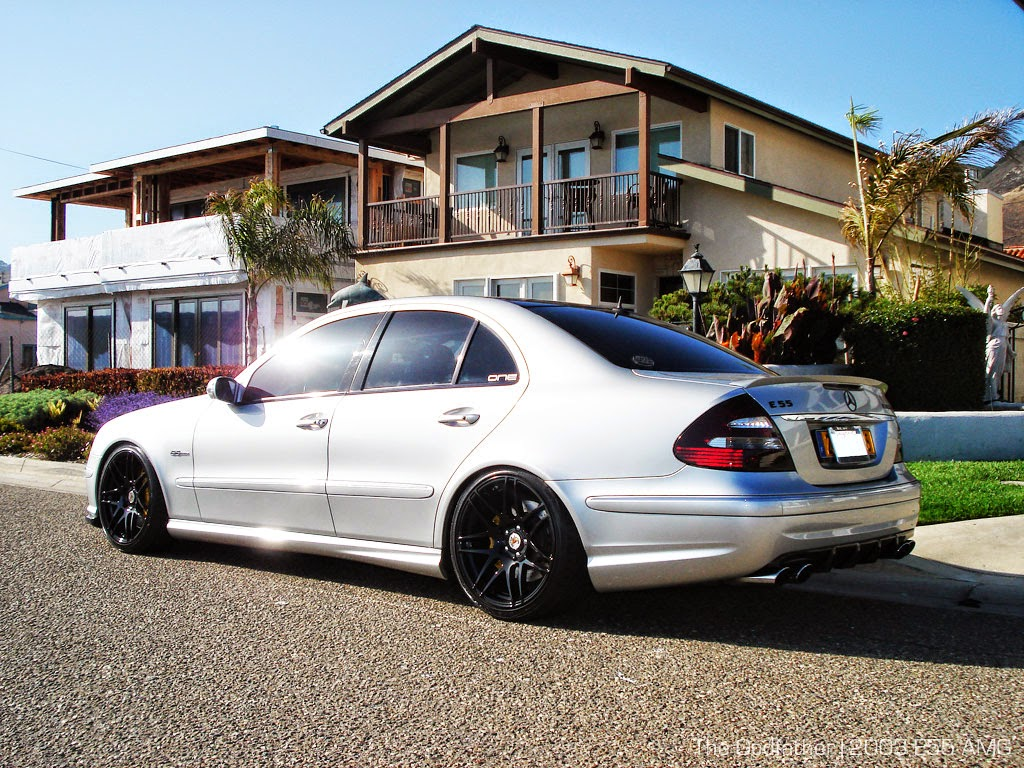 Mercedes benz w211 e55 amg on forgestar wheels benztuning for Amg wheels for mercedes benz