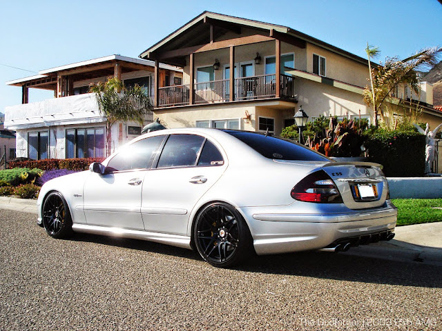 mercedes benz w211 e55 amg on forgestar wheels benztuning. Black Bedroom Furniture Sets. Home Design Ideas