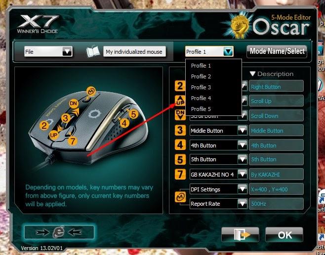 cara setting mouse macro x7 f4