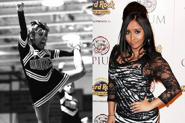 Snooki — I don't know what it is but, side by side, I find these two photos of Nicole Polizzi to be absolutely hilarious. Can you believe this tiny nut-job is a celebrity? These are indeed crazy times.