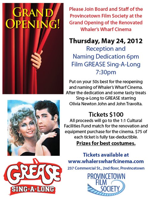 May 24 - Grand Opening of Whaler's Wharf Cinema 730pm