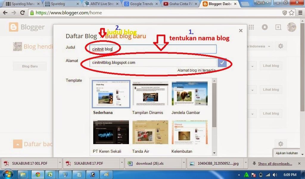 cara memilih judul blog