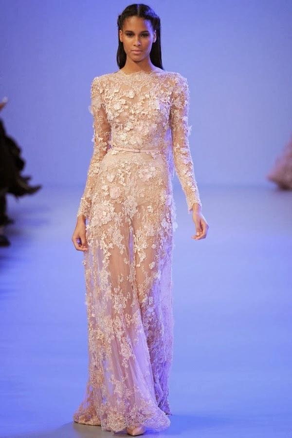 January 23 2014 for Elie saab blush wedding dress