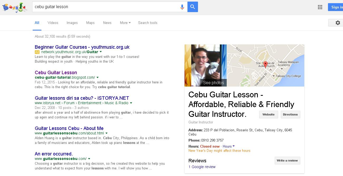 Cebu Guitar Lesson Photos