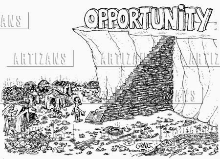 Risk in Opportunity Very Funny Humor Cartoon Jokes