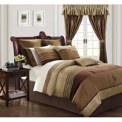discount comforter sets everrouge sonata 24 piece room in a bag bronze. Black Bedroom Furniture Sets. Home Design Ideas