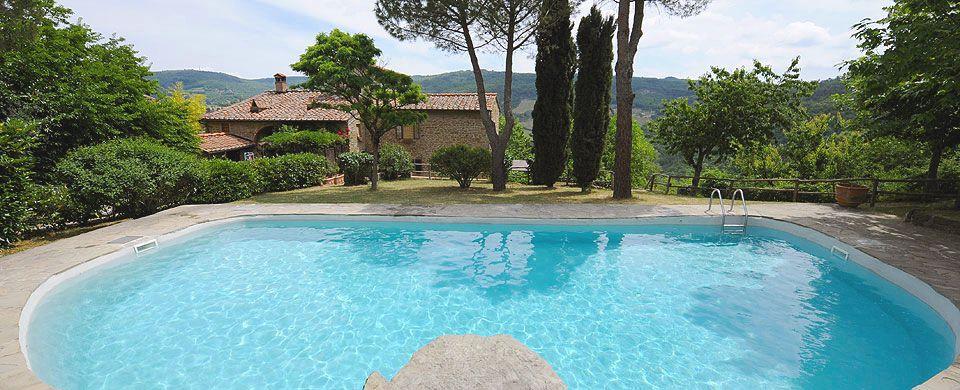 Tuscan farmhouse vacation rental near Panzano in Chianti