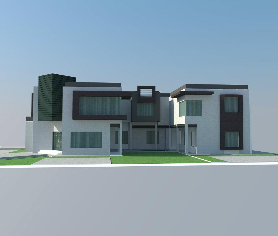 New House Front Elevation Models Part - 44: Casatreschic Interior: Lahore Pakistan 3d Front Elevation House Design House  Plans,3D Model HOUSE Front Elevation
