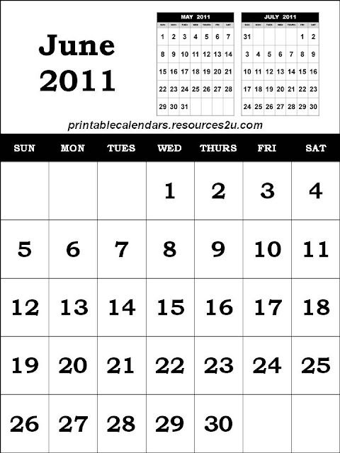 june 2011 calendar template. this June 2011 Calendar