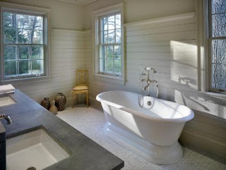 how to fit tongue groove paneling to a bathroom wall. Black Bedroom Furniture Sets. Home Design Ideas