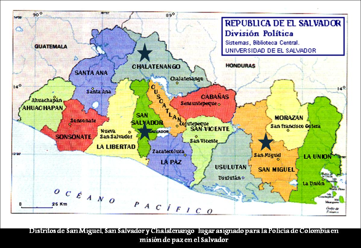 El Salvador Mapa Politico
