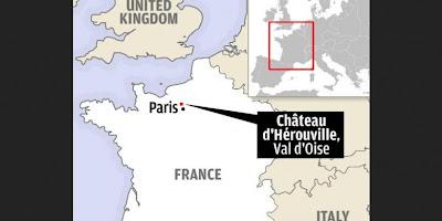 Lokasi rumah mewah di daerah Val d Oise, sekitar 32 km dari Paris