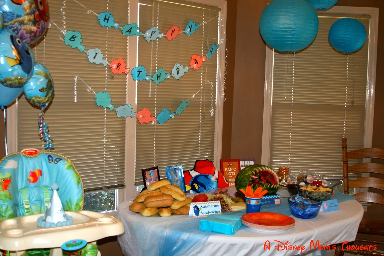 Finding nemo first birthday decorations a disney mom 39 s for 1st birthday decoration images