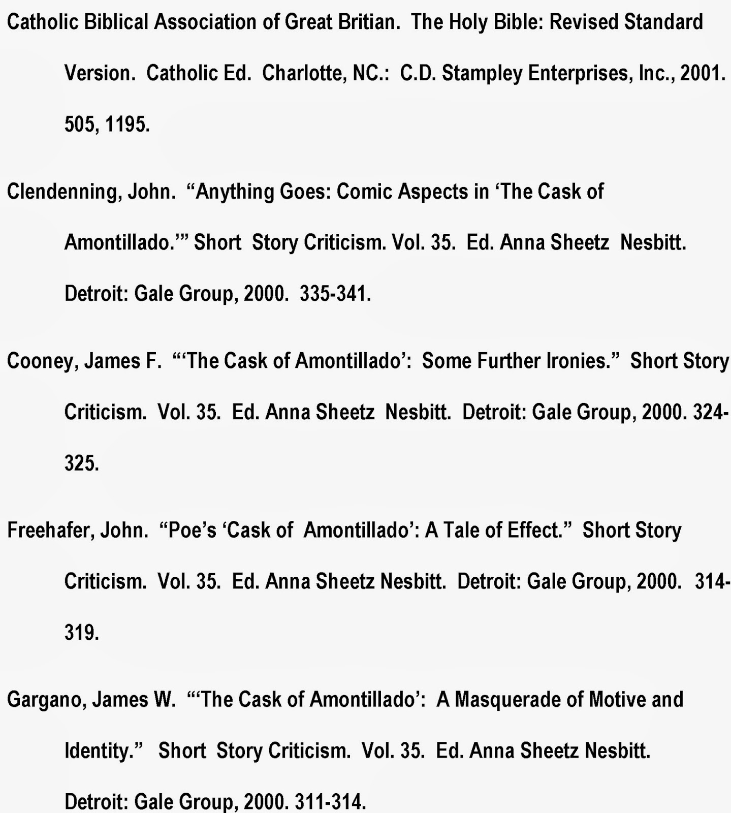 Works cited page in essay citation