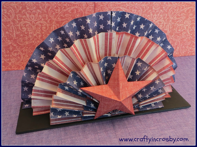 paper folding, paper crafts, July Fourth, Fourth of July, Patriotic