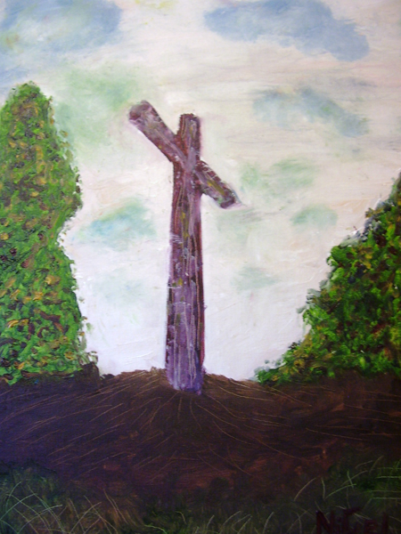 belsen cross, painting, art