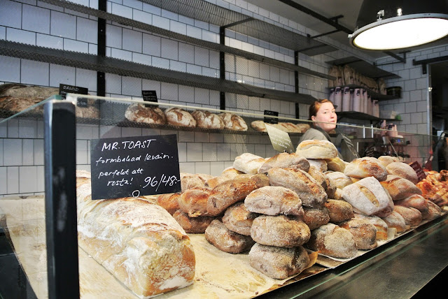 Artisan bread in Fabrique bakery Stockholm
