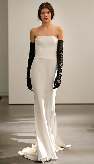 opera gloves, leather gloves, Vera Wang