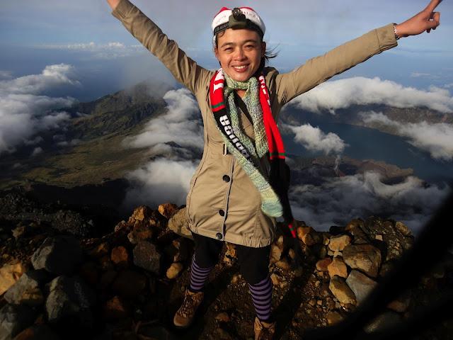 Summit 3726 meter of Mount Rinjani