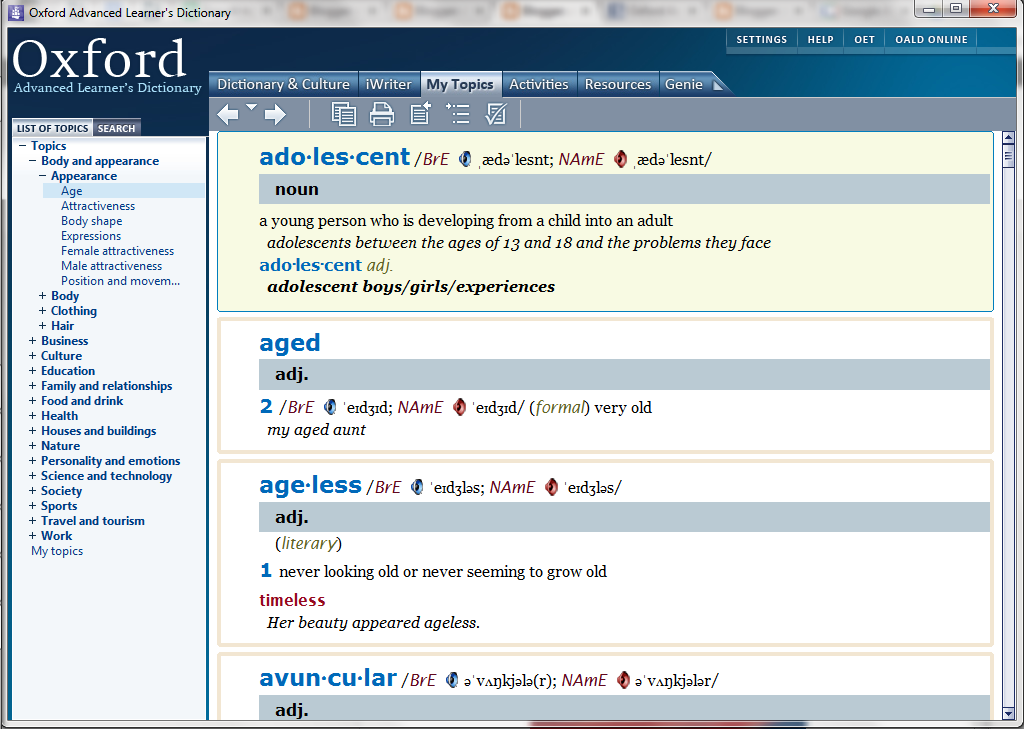 topic-dictionary-oxford