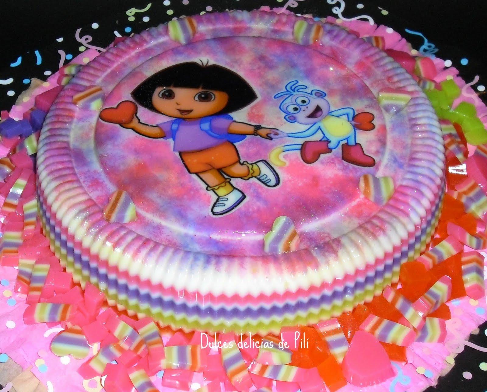 Torta y gelatina de cumpleaños para 40 personas, bizcocho de ...