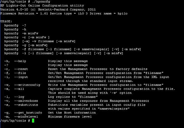 How to Configure HP ILO from ESXi host