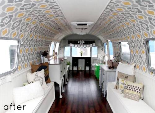 Reforma Baño Caravana:Airstream Camper Makeover