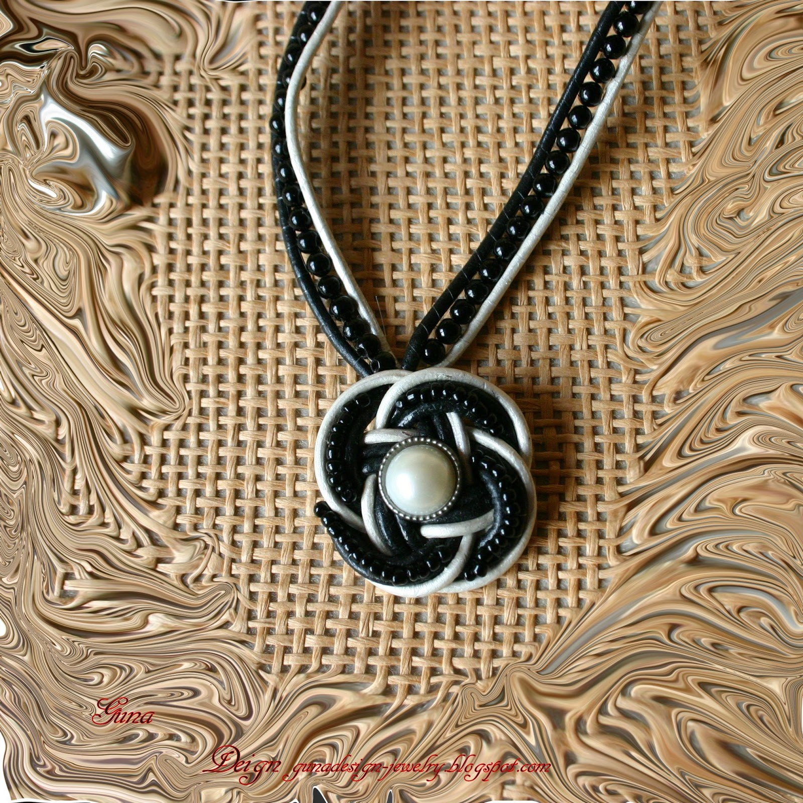 Gunadesign jewelry tutorial Celtic Eternal or Rose knot: pendant rose