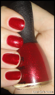 nubar red ruby glitz swatches and review