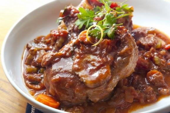 Ossobuco , Italian recipe, Mediterranean Diet, Roma recipe