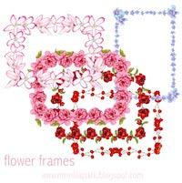 free flower frames: