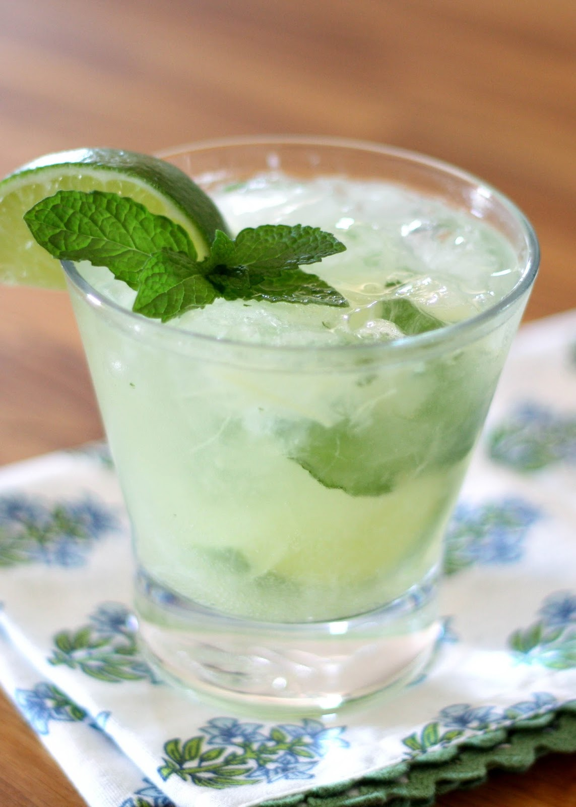 Pineapple Mint Mojitos recipe by Barefeet In The Kitchen